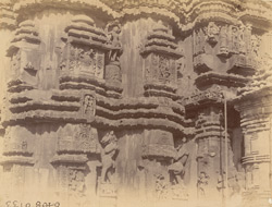 Close view of part of southern façade of the sanctuary of the Rajalinga Temple, Bhubaneshwar